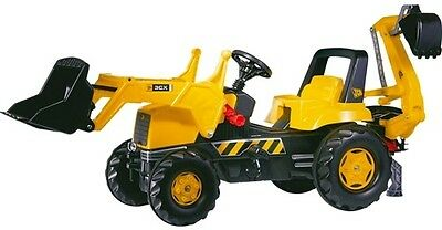 New Rolly Toys JCB Pedal Tractor Large Junior Tractor with Loader and Digger 3+