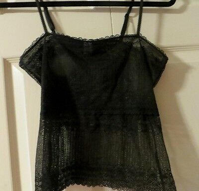 GAP  Black  All  Lace   Camisole  Size   S P