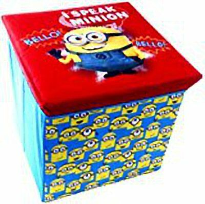 Minions Despicable Me Ottoman Toy Box Storage Chest Seat 2 Designs Kids Children