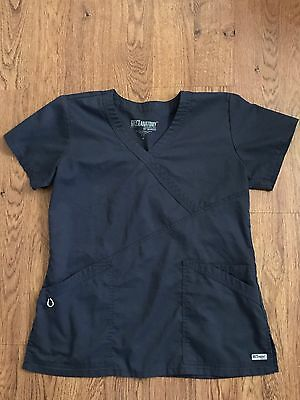 Women's Grey's Anatomy Gray Medical Uniform Hospital Scrub Top Size Medium