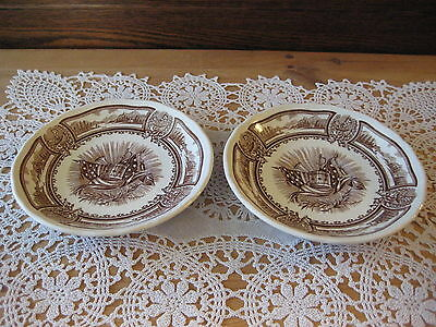 2 Americana Style House Ironstone Everlasting Colour J & G. Meakin Saucer Plates