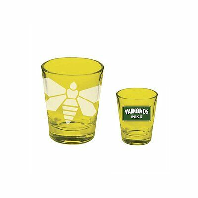 New! Breaking Bad Yellow Etched Moth Shotglass