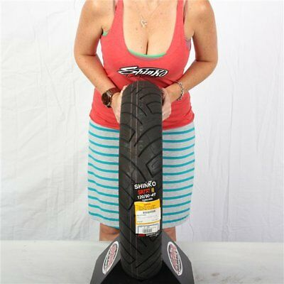 130/80-17 4 Ply Shinko 777 White Wall Front Tire