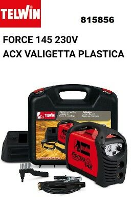 Telwin Force 145 V230 Saldatrice Inverter Con Valigetta In Plastica E Accessori