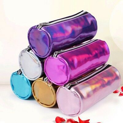 Fashion Hologram Pencil Case Pen Holder Makeup Boxes Zipper Comestic Storage Bag