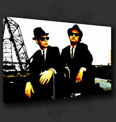 Blues Brothers Iconic Film Movie Wall Art Canvas Print Picture Ready To Hang