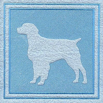 Brittany Spaniel Dog Embossed  White Hand Towel Set Embroidered