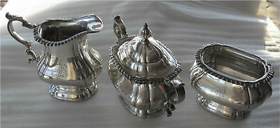 Gorham Sterling Silver Jug, Sugar Bowl Tea Set 1185 gr. Not Scrap $650+ Melt