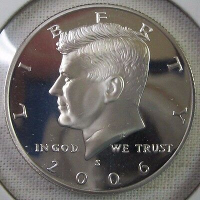 2006 S Kennedy Half Dollar - Gem Proof Deep Cameo - 90% Silver