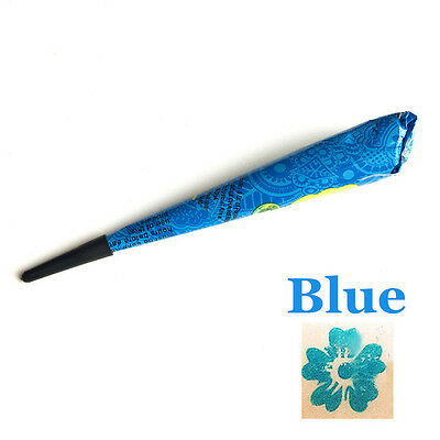 Mehndi Blue Henna Paint 25g Temporary Tattoos Body Arts Mehndi  Waterproof Cone