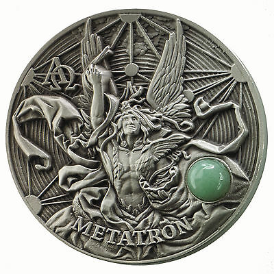 2 Oz Silber Antique Finish High Relief Metatron The Choir of Angels 5$ Niue 2016