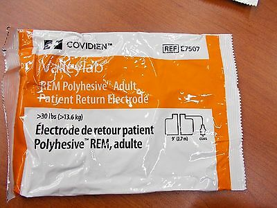 ONE-COVIDIEN-VALLEYLAB-REM-Polyhesive-Adult-Patient-Return-Electrode-E7507  ONE