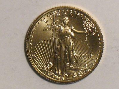 2016 AMERICAN GOLD EAGLE - 1/10 TROY OUNCE - $5 UNITED STATES COIN - TENTH oz