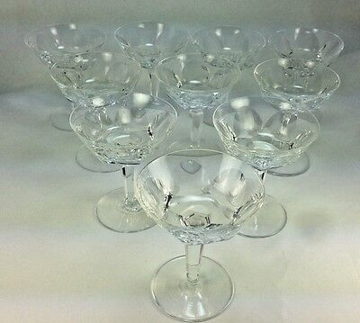"Elegant Set of 9 Waterford ""Sheila"" Pattern 4 3/4"" Champagne/Sorbet  Glasses"