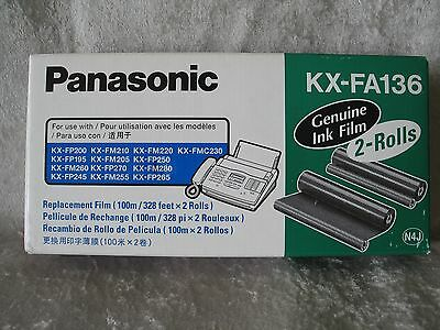 NEW Genuine PANASONIC KX-FA136 INK FILM 1 Roll Only Replacement FAX COPY MACHINE