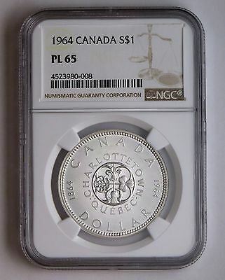 1964 S$1 Canada Silver Dollar NGC PL 65