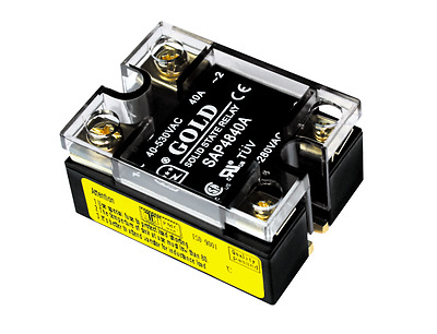 Solid State Relay UL, 90-280VAC-in, 40-530VAC-out, 40Amp, (PN#SAP4840A)