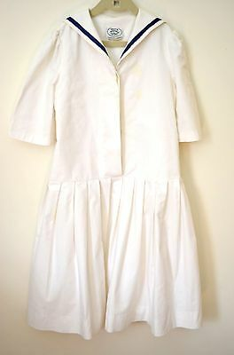 Classic Vintage Laura Ashley Girls' Sailor Dress Size 9-10 Ss888