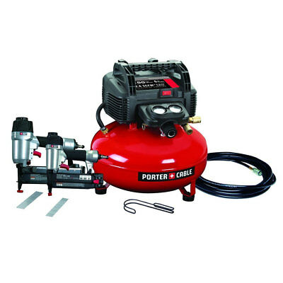 Porter-Cable PCFP12656 2 Tool Finish + Brad Nailer Compressor Combo Kit New