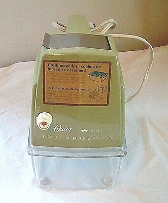 VTG Oster Imperial Countertop Ice Crusher 1970's Retro Avocado Green Tested FS!
