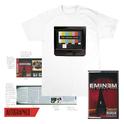 The Eminem Show Anniversary Bundle Cassette, Signed Poster and Large Shirt
