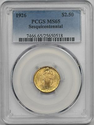 1926 Sesquicentennial $2.5 PCGS MS 65 Early Gold Commemorative Sesqui