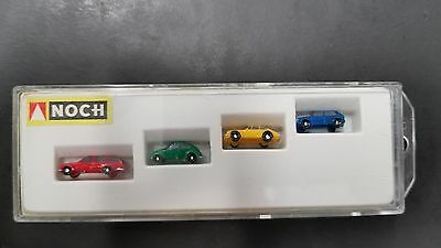 Vintage Preiser Noch Z Scale 1:220 Handpainted 4720 Model Car Assortment Combo 1