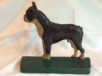 Handsome Antique Cast-Iron Boston Terrier Bookend