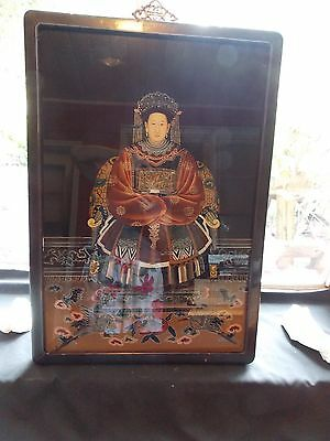 NICE UNTOUCHED antique empress reverse painting STOCK LIQUIDATION DONT MISS OUT
