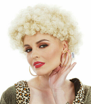 KATH & KIM BLONDE AFRO WIG 1970s Curly Permed Disco Fancy Dress by Allaura Wigs