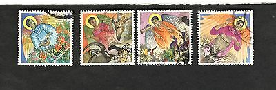 1994 Zambia SC #645-648 CHRISTMAS used stamps