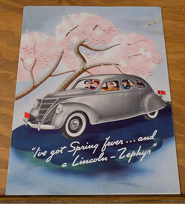 1937 Vehicle Brochure///LINCOLN-ZEPHYR AUTOMOBILE