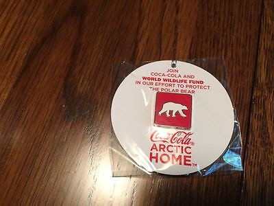 New Coca Cola 2013 Arctic Home World Wild Life Polar Bear Pin