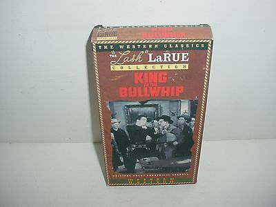 Lash LaRue King of the Bullwhip VHS Video Tape Movie