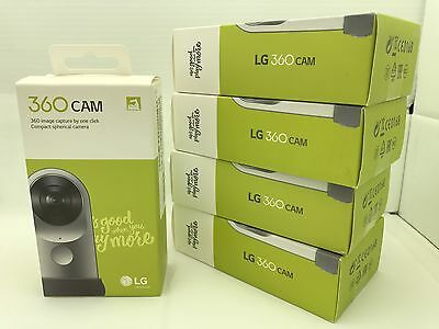 NEW Sealed LG 360 CAM Spherical Camera Wide-Angle 2K Video Silver LG-R105