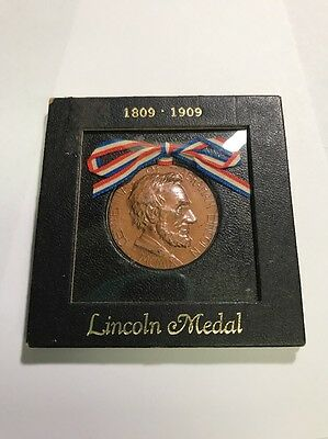 1809 - 1909 Abraham Lincoln Centennial Medal Issued By City Of New York 1909
