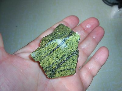 "Rough Natural GREEN SERPENTINE Lapidary 4.0 Ounce ~ 2 1/4"" x 1 5/8"" x 1 3/8"""