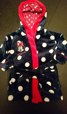 baby girls minnie mouse dressing gown excellent condition  age 9-12 months
