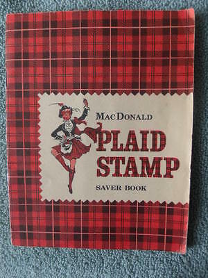 Vintage MacDonald Plaid Stamp Saver Book Full & Completed