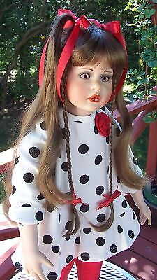 "26""Porcelain Melissa Ann doll by Valerie Pike. Redressed plus original outfit"