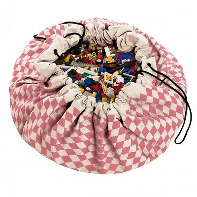 NEW Play and Go Toy Lego Storage Bag - Diamond Pink Playmat Kids Play Mat