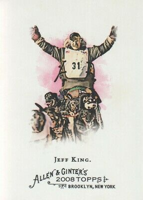 2008 Topps Allen & Ginter Baseball #202 Jeff King Iditarod Sled Dog Race