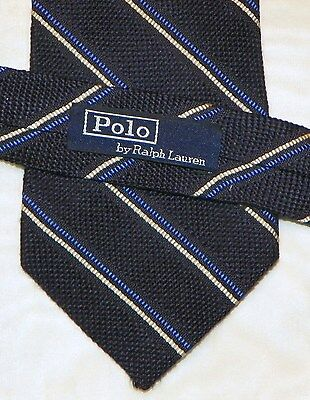 POLO [ by RALPH LAUREN ]  men's tie 100% Silk Made in USA