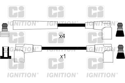 MERCEDES 200 W123 2.0 HT Leads Ignition Cables Set 80 to 85 CI Quality New