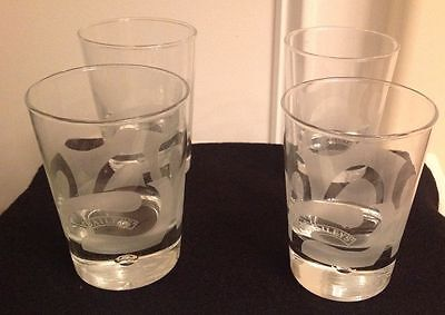 "A Set Of 4 Baileys Double Swirl Design 4"" Bubble Cocktail Rocks Tumblers/glasses"
