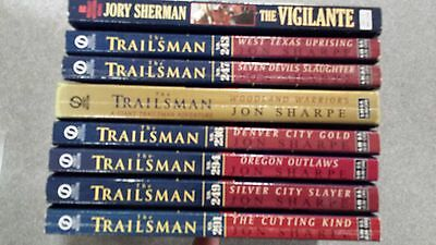 Lot of 7 Trailsman series western pbs Jon Sharpe - high numbers