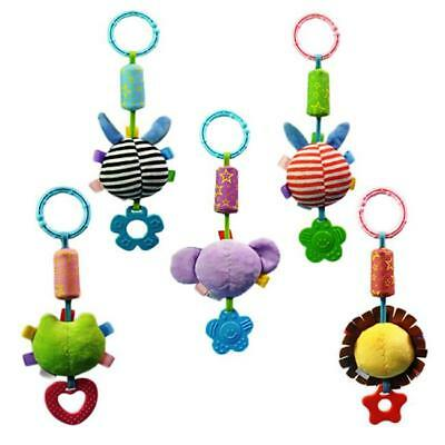 Baby Infant Rattles Plush Animal Stroller Music Hanging Bell Toy Doll Soft Bed S