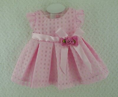 "Doll Clothes Handmade Checked Floral Dress 16""-18"" Doll Outfit Cabbage Patch"