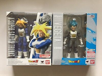 Bandai S.H Figuarts Dragonball Z Super Saiyan Trunks + God Vegeta Figure USA