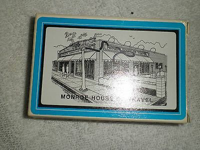 Monroe Michigan Monroe House Of Travel Playing Cards Box Open Unopened Package